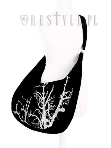 White Witch Velvet Bag Tree Hobo Saco Ricamo Gothic Branches Restyle 4pdqB4