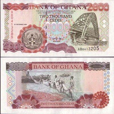 GHANA 2000 2,000 CEDIS 1996 P 33 UNC