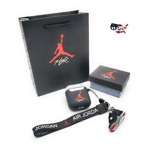Air-Jordan-Retro-Cement-AirPods-Case-w-3D-Jordan-4-Keychain-BOX-BAG-Lanyard-SET