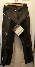 Women's Padded TEKNIC Daytona Leather/Keprotec Motorcycle Pants US8/Euro38- NEW