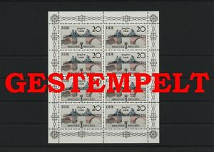 Germany-GDR-DDR-R-d-a-Vintage-1985-Mi-2973-Feuilles-Miniature-Timbres-Used
