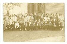 RPPC Children School CATAWISSA PA Columbia County Real Photo Postcard