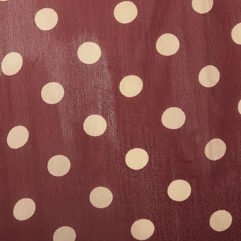 XXS 1930s Red Dress White Polka Dot Sheer Silk Ch… - image 10