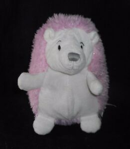 9 Nat Jules Pink White Sparkle Tinsel Hedgehog Stuffed Animal