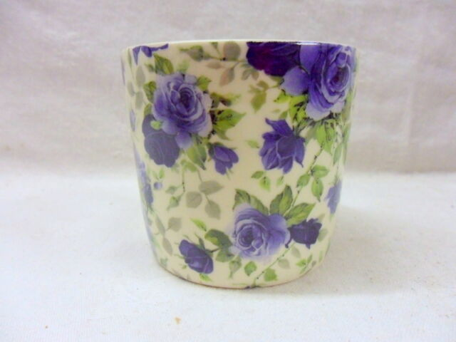 Blue summertime small sugar bowl by Heron Cross Pottery