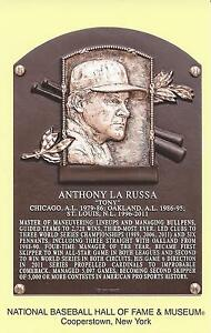 Tony larussa baseball hall of fame induction plaque postcard 2014 cooperst - Plaque a induction 1 foyer ...