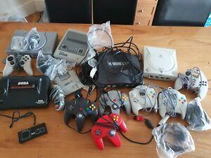 Retro Games Consoles SNES, PlayStation, Mega Drive, Master System 2, Dreamcast