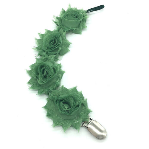 Baby Boys /& Girls Pacifier Soother Nipple Flower Diamond Strap Chain Clip Holder