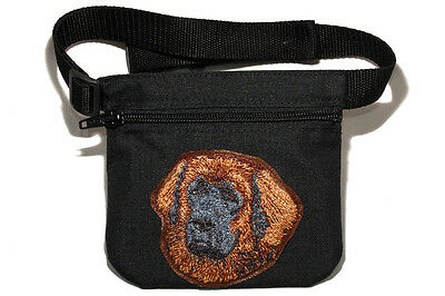 Leonberger gift - Embroidered Dog treat pouch/ bait bag.