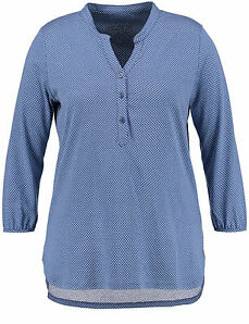 Samoon Lässiges Blusenshirt by Gerry Weber Neu Shirt blau/weiße Tupfen Damen Gr.