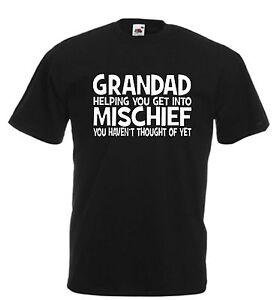 Image Is Loading Grandad Funny T Shirt Mischief Xmas Christmas Birthday