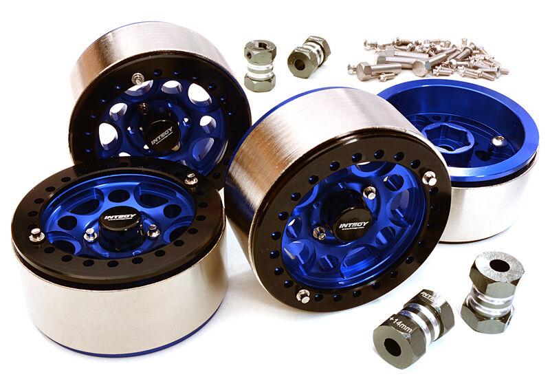 C27030azul Integy 1.9 Talla High Mass Wheel(4)w 14mm Offset Hubs for 1 10 Crawler