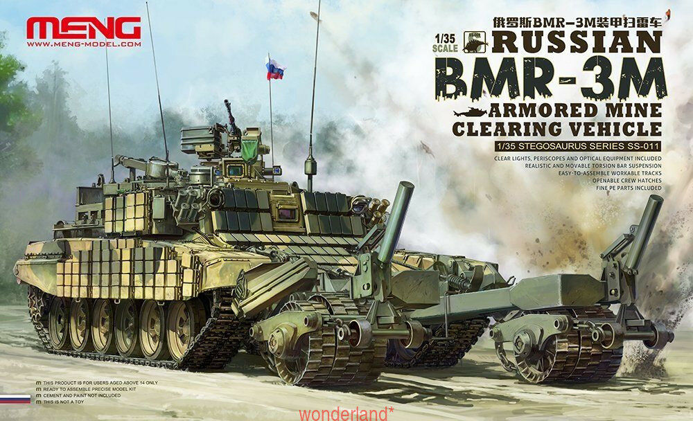 Meng Model 1 35 SS-011 Russian BMR-3M Armored Mine Clearing Vehicle