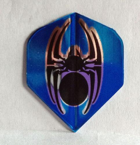1 Standard Set Black /& Silver Tattoo Spider Amerithon Dart Flights Blue