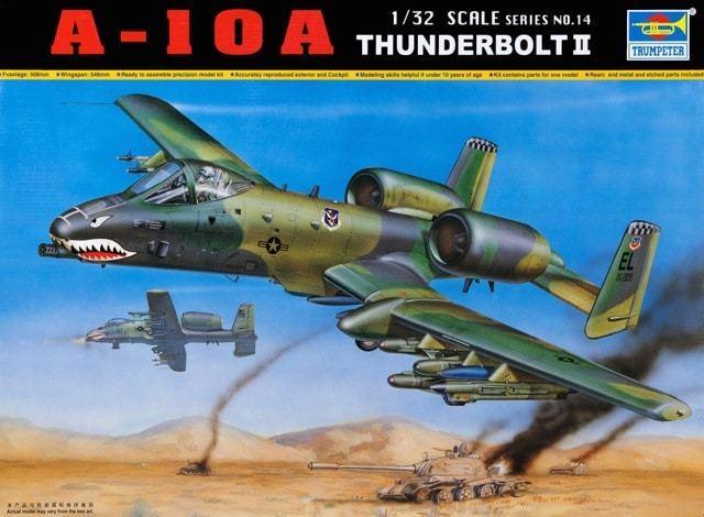 Trumpeter 9362214 A-10A Thunderbolt II 1 32 Erdkampfflugzeug Modellbausatz    Günstige Preise