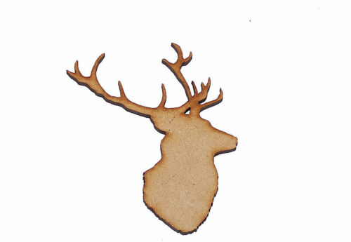 Pack of 10 75mm High MDF Stags head Blank for embellishing your project #08