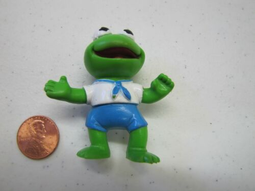 """1986 Muppets BABY KERMIT THE FROG SAILOR ACTION FIGURE TOY 2/"""" Henson Vintage"""