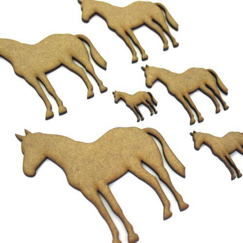 2mm MDF Wood Farm Riding Standing Horse Craft Shapes Pony Embellishments