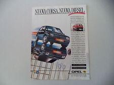 advertising Pubblicità 1987 OPEL CORSA GT