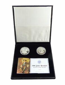 """#e7715 2 Münzen 999 Silber """"300 Jahre Preußen"""" König Friedrich I. Und Ii. Pp Geschickte Herstellung"""