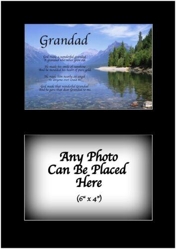 Grand-père poème Personnalisé Avec N/'importe Quel Photo Anniversaire Pères Jour Cadeau de Noël