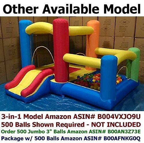 My Bouncer Hexagon Inflatable Ball Pit Pit Pit w  1,000 Jumbo 3  Balls Family Fun Indoor cc45d6