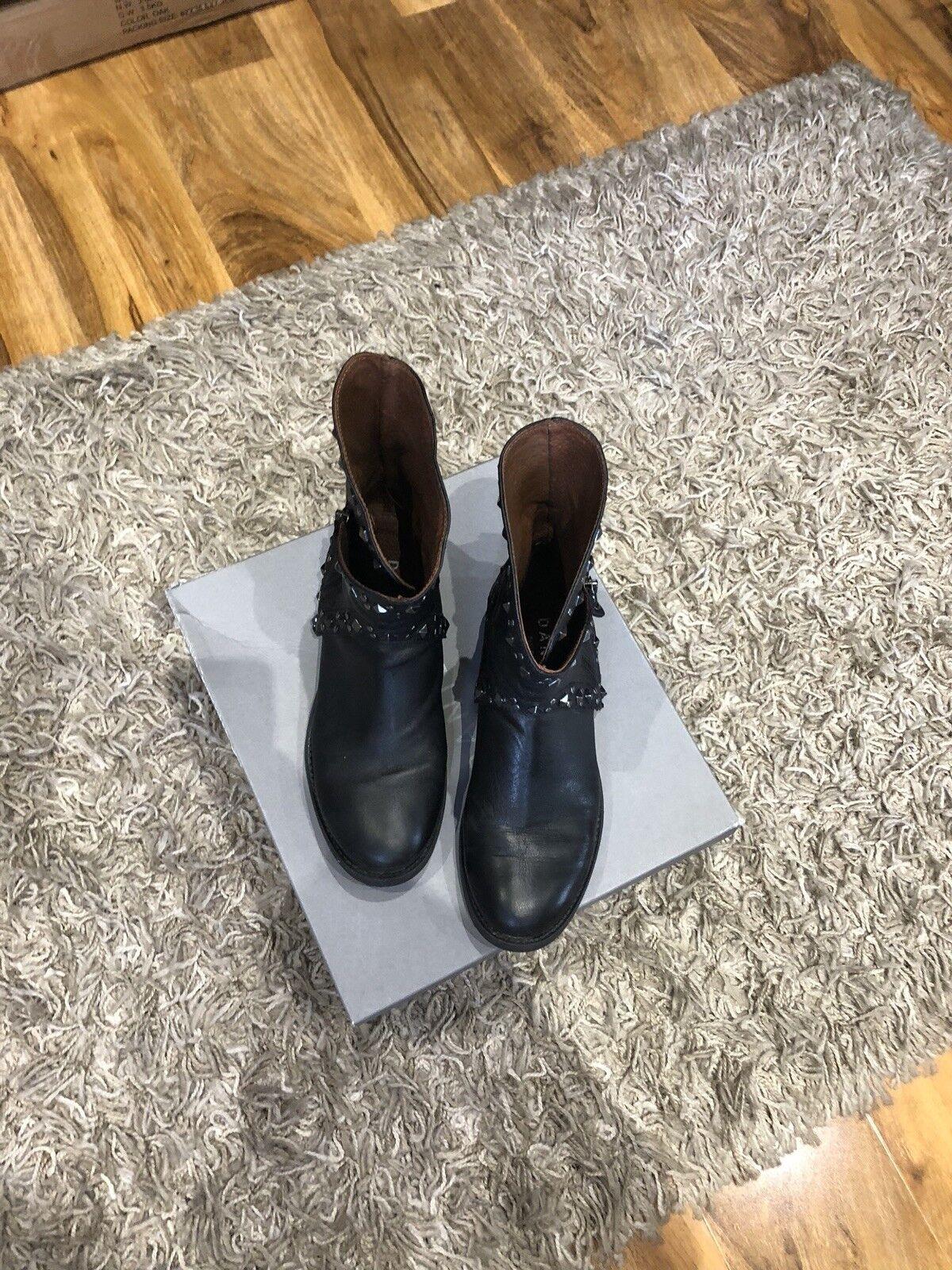 DANIEL damen LEATHER WINTER ANKLE Stiefel COMBAT FLAT schuhe Größe 4 (37)