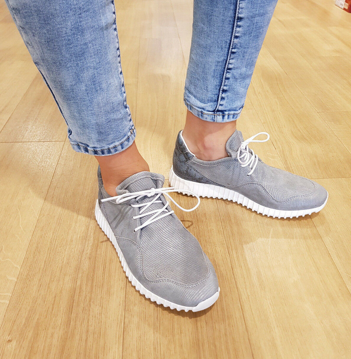 POST JADE Xchange Sneaker Scarpe normalissime JADE POST IN PELLE NUOVO FS 18 07d431