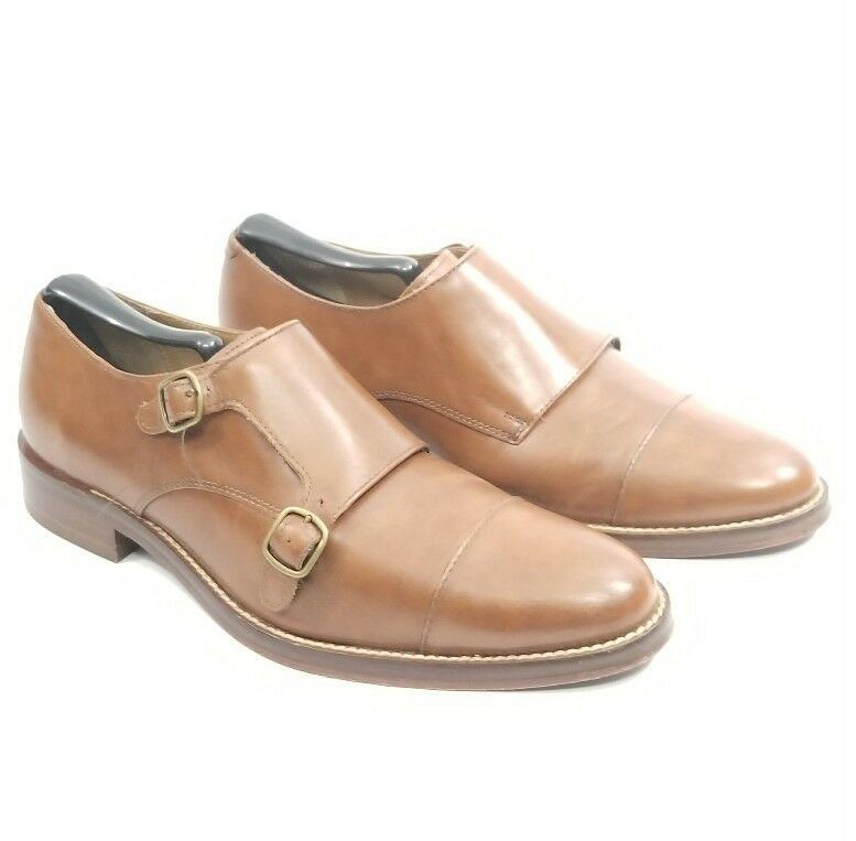 Cole Haan Grand. os cuir Double Moine Bracelet Lacet Chaussures Taille 8.5