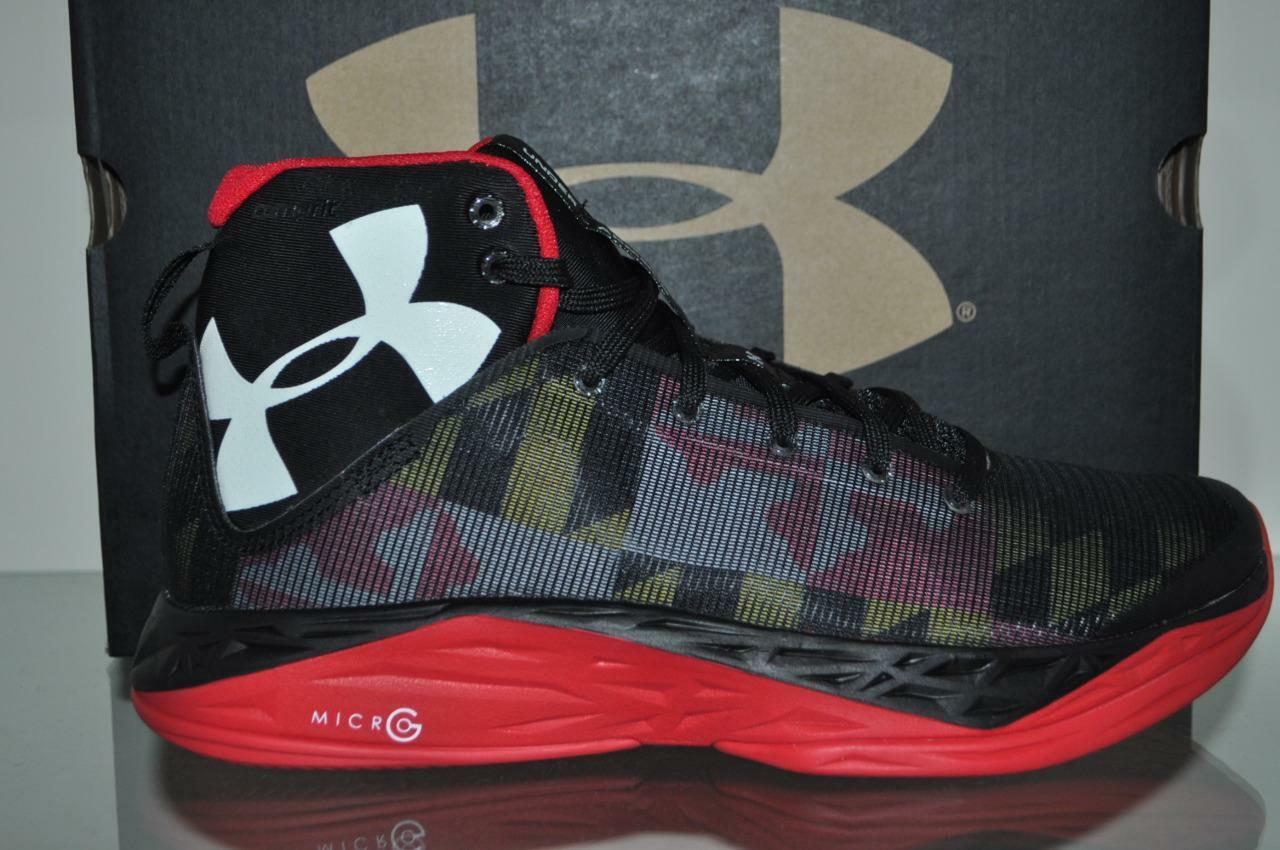 Under Armour Fire Shot MARYLAND Uomo Basketball Shoes 1269276 007 NIB See Sizes