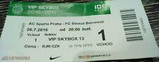 VIP SKYBOX TICKET UEFA CL 2016/17 Sparta Prag - Steaua Bukarest