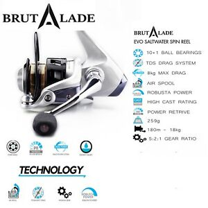Fishing-Reel-Spinning-2000-Size-Superior-Value-amp-Quality-Brutalade-Reels