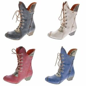 a7b56856f8b747 Das Bild wird geladen Damen-Stiefel-Echt-Leder-Comfort-Boots-Schuhe-TMA-
