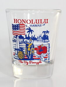 HONOLULU-HAWAII-GREAT-AMERICAN-CITIES-COLLECTION-SHOT-GLASS-SHOTGLASS