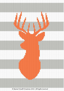 Crochet Patterns DEER Color Graph Afghan Pattern