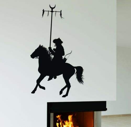 ig1974 Wall Stickers Mongolian Warrior Rider Nomad Art Mural Vinyl Decal