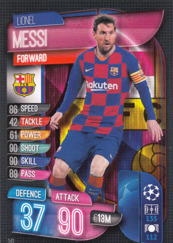 Topps Match Attax Champions League 2019//2020 19//20 Messi Barcelona #141