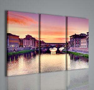 Quadri moderni ponte vecchio firenze quadro moderno citta 39 arredamento casa ebay for Ikea quadri stampe