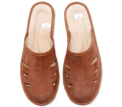 Para Hombre Zapatillas Mula Zapatillas Para Hombre Cuero Natural Suela Antideslizante Zapatos