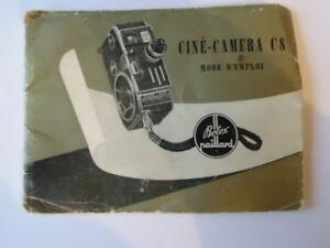 NOTICE-CAMERA-ANCIENNE-VINTAGE-ANNEES-50-BOLEX-PAILLARD-CINE-CAMERA-C8