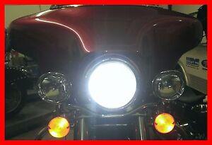 World S Brightest Harley Davidson Plug In Led Cree Headlight H4 Bulb
