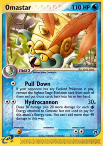Rare NM-Mint Pokemon EX 1x Omastar 19//100 Sandstorm