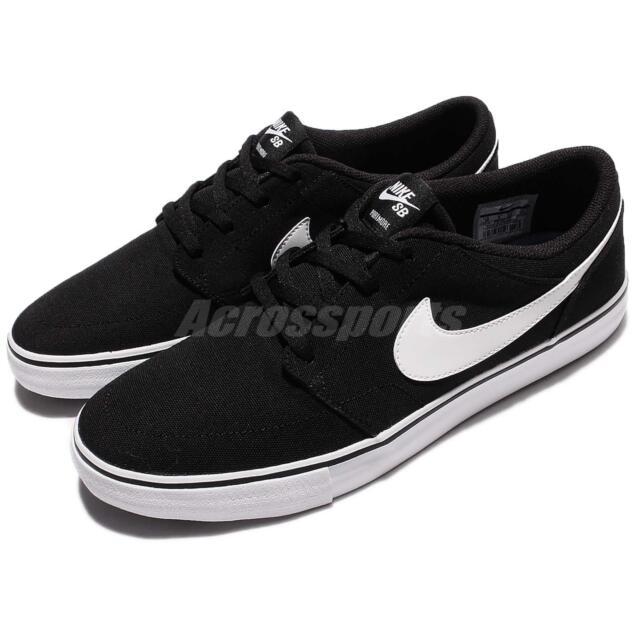 554a2c9f110d Nike SB Portmore II 2 Solar CNVS Canvs Men Black Shoes Skate Boarding  880268-010
