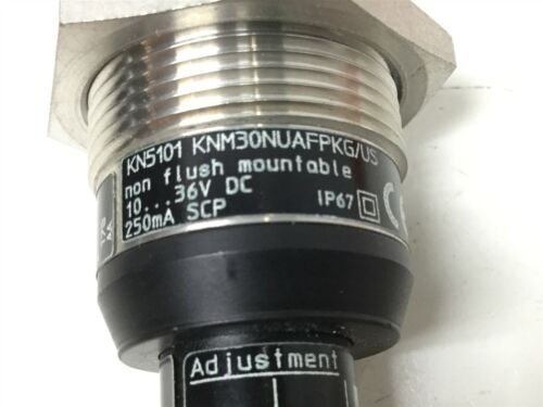 ifm Efector KN5101 KNM30NUAFPKG//US Capacitive Level Sensor Switch 24VDC NO PNP