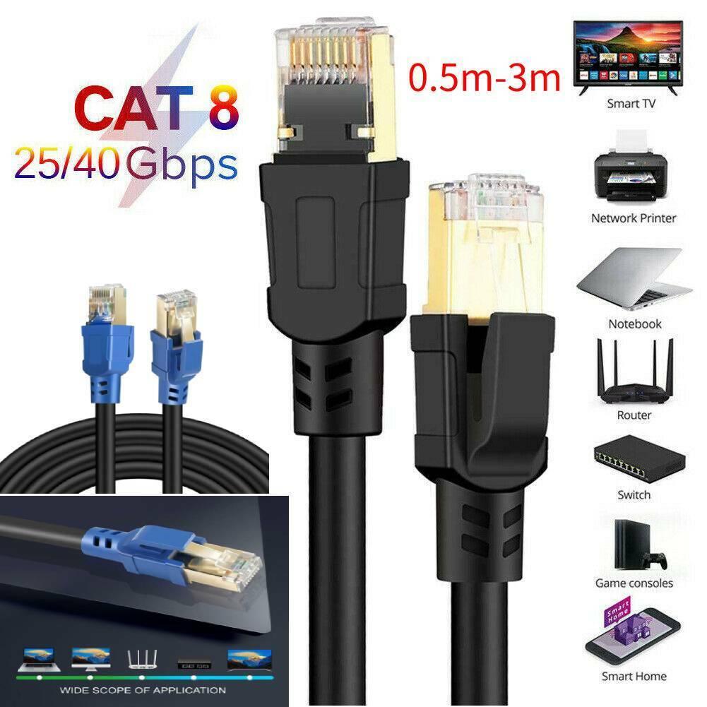 1M 30M FLAT RJ45 CAT6 Ethernet Network LAN Cable UTP Patch Router Blue LOT