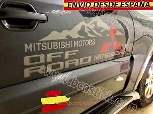 2X-Laterales-Adhesivas-Decal-stickers-Vinilos-Coche-4x4-Mitsubishi-OFFROAD