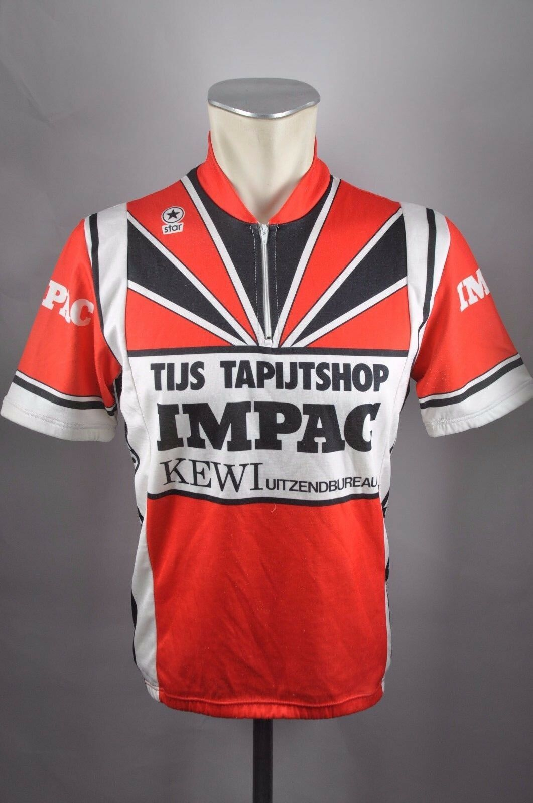 Impac Star tijs tapijtshop cycling jersey Bike Rad Trikot Gr. M 54cm U9