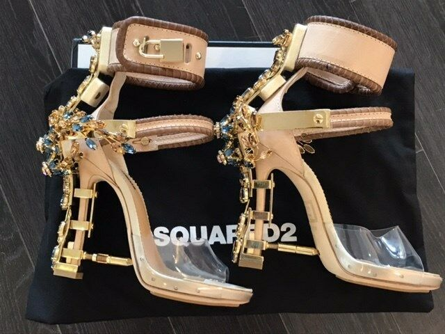 1d54f4aeb9 Dsquared2 Virginia Sandals Crystal PUMPS HEELS Shoes 36 for sale online |  eBay