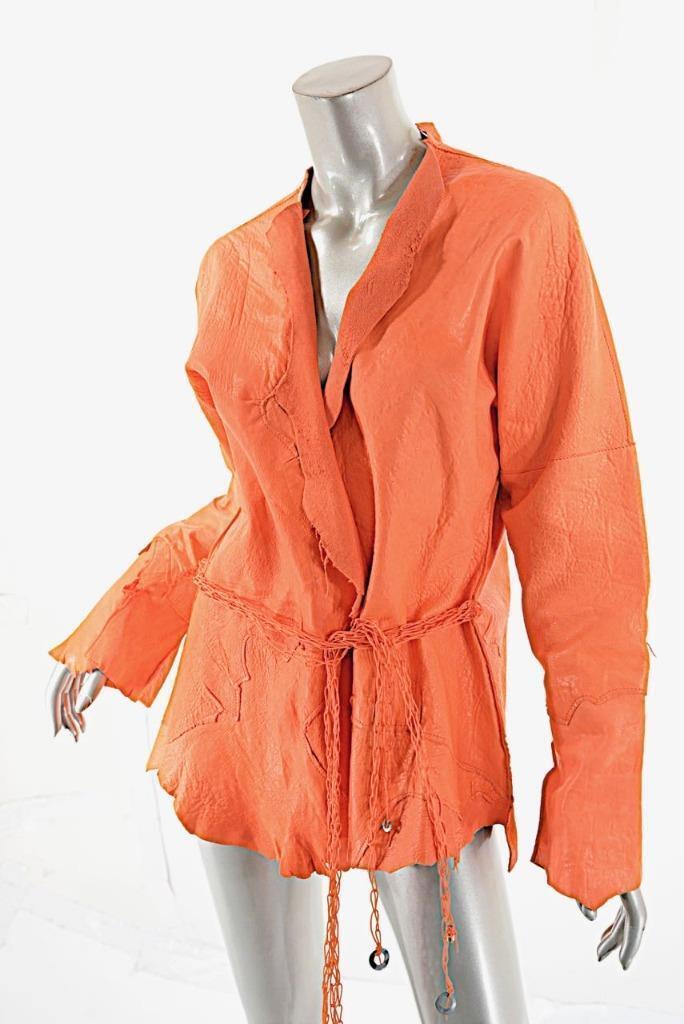 SUSAN céntrica Diseño Brillante  Coral hecho a mano de cordero cuero chaqueta nueva con etiquetas  1365 o s  muchas sorpresas
