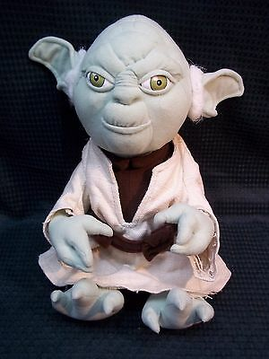 "STAR WARS Applause Plush 11"" (sitting) YODA 1998"